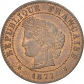 France, Cérès, Centime, 1877, Paris, SUP, Bronze, KM:826.1, Gadoury:88