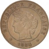 France, Cérès, Centime, 1884, Paris, TTB+, Bronze, KM:826.1, Gadoury:88