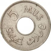 Palestine, 5 Mils, 1934, TTB, Copper-nickel, KM:3
