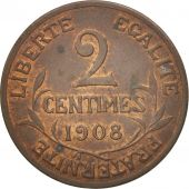 France, Dupuis, 2 Centimes, 1908, Paris, TTB+, Bronze, KM:841, Gadoury:107